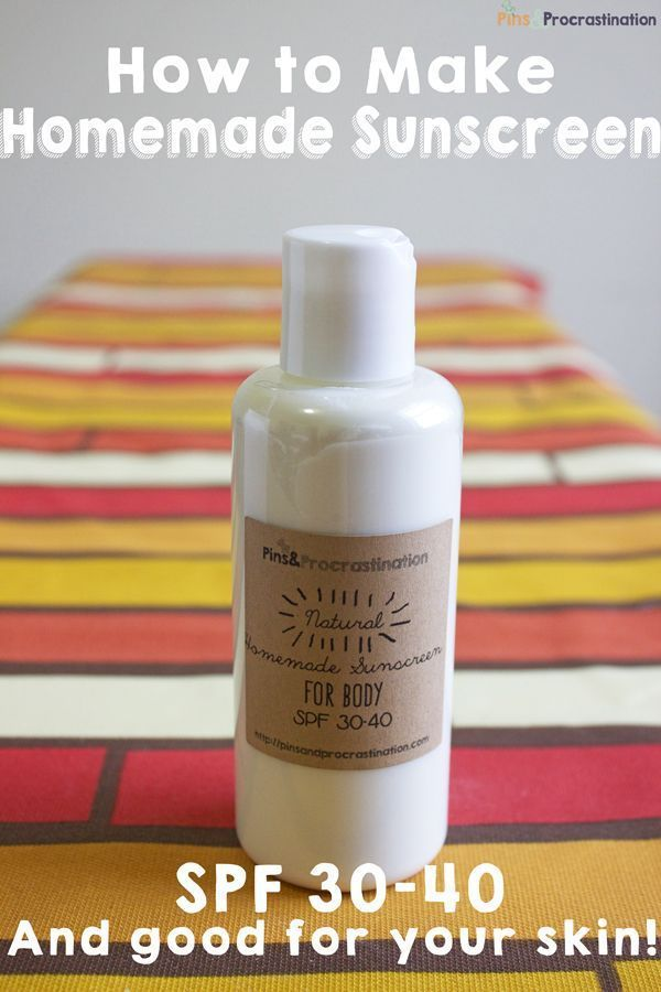 Diy masque recettes de soins de la peau bricolage comment faire de la cr me solaire maison - Creme solaire maison ...