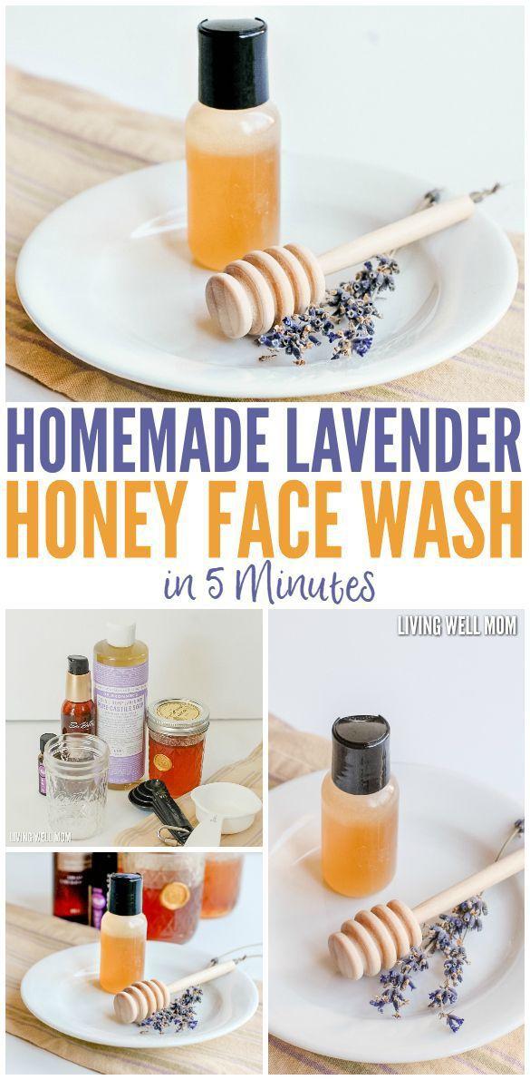 diy masque soins de la peau naturels et bricolage lavage de visage de miel de lavande fait. Black Bedroom Furniture Sets. Home Design Ideas