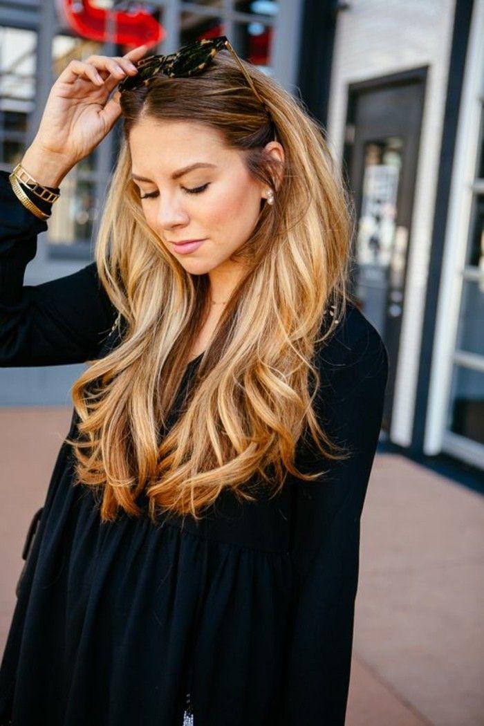 Photo coupe de cheveux long degrade