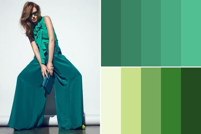 1001 secrets pour apprendre les couleurs qui vont - Palette de couleur vert ...