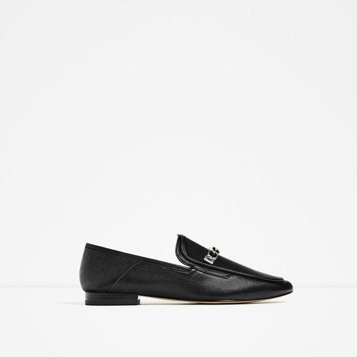 tendance chaussures 2017 2018 zara femme mocassins en cuir magazine. Black Bedroom Furniture Sets. Home Design Ideas
