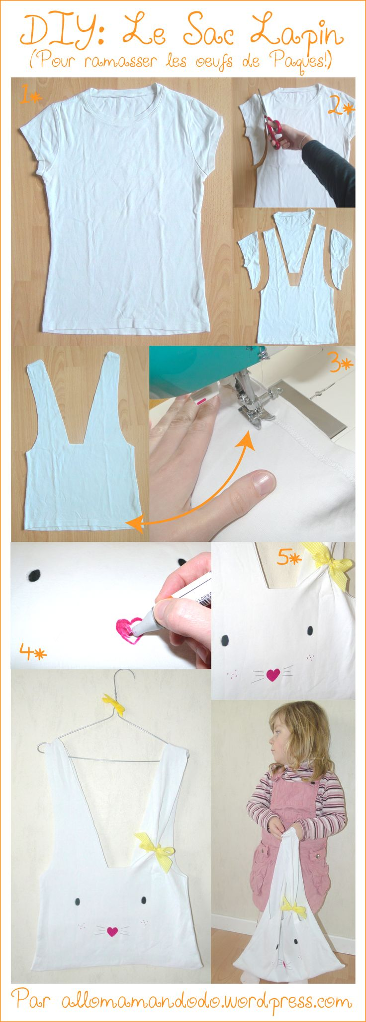 tendance sac femme 2017 2018 diy tuto sac lapin pques enfant activit bricolage facile. Black Bedroom Furniture Sets. Home Design Ideas