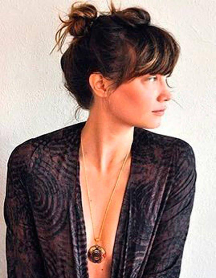 Inspiration Coiffure Frange Longue Madame Tn Magazine Feminin