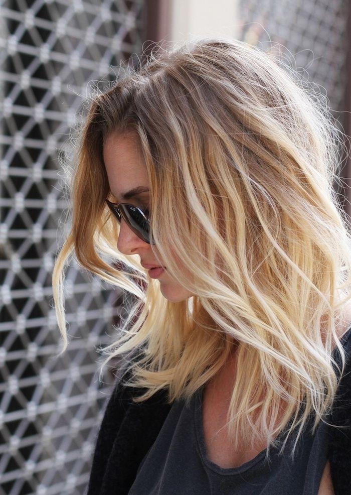idee,coiffure,ombre,hair,blond,femme,aux,cheveux,mi,longs ,coiffure,naturelle,avec,volume,c