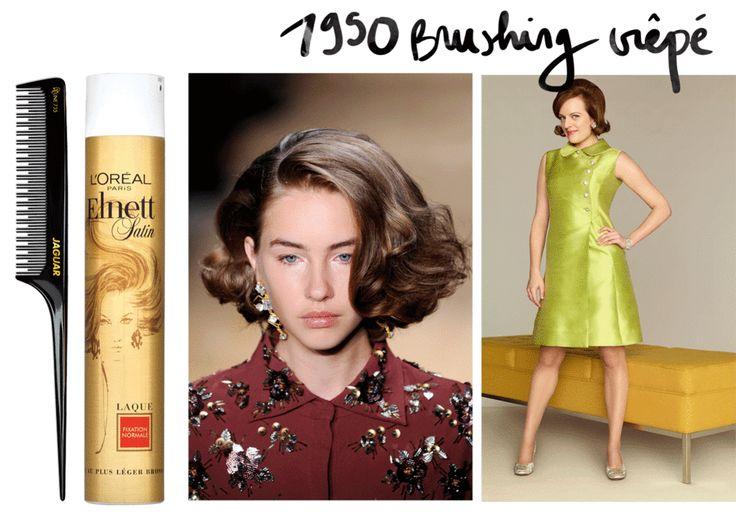 Inspiration Coiffure 1950 Le Brushing Crepe Madame Tn