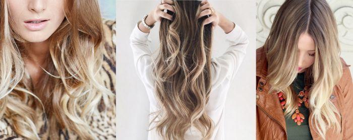 Technique de balayage sur cheveux long