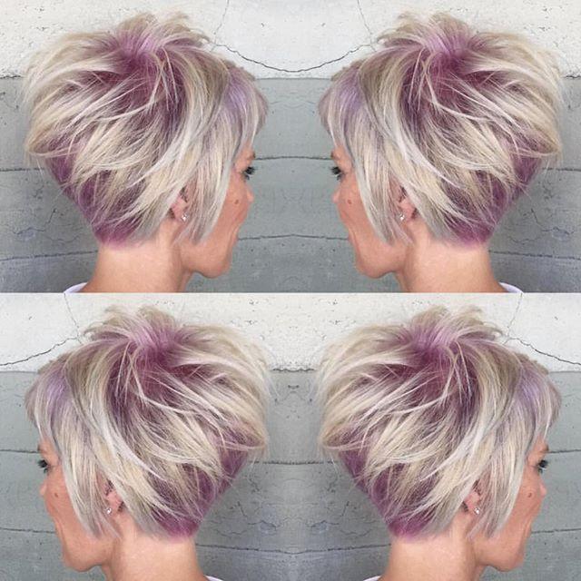 Couleur cheveux tendance coupe courte