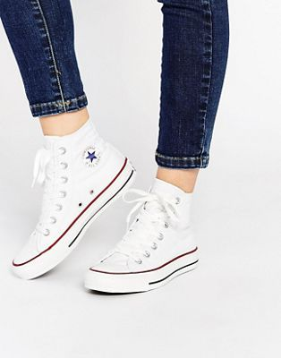 converse all star blanche femme montante
