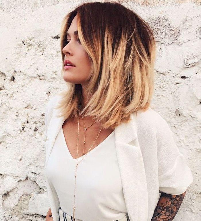 Idee Coiffure Coiffure Carre Plongeant Mi Long Bicolore Degrade Madame Tn Magazine Feminin Numero 1 Mode Beaute Shopping Lifestyle