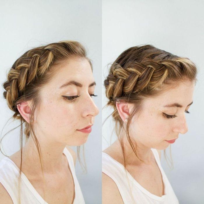 Idée Coiffure Idée Pour Un Chignon Cheveux Mi Long Effet
