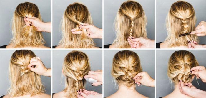 Idee Coiffure Coiffure Femme Cheveux Mi Longs Et Blonds Attaches En Tresse Pour Faire Un Chi Madame Tn Magazine Feminin Numero 1 Mode Beaute Shopping Lifestyle