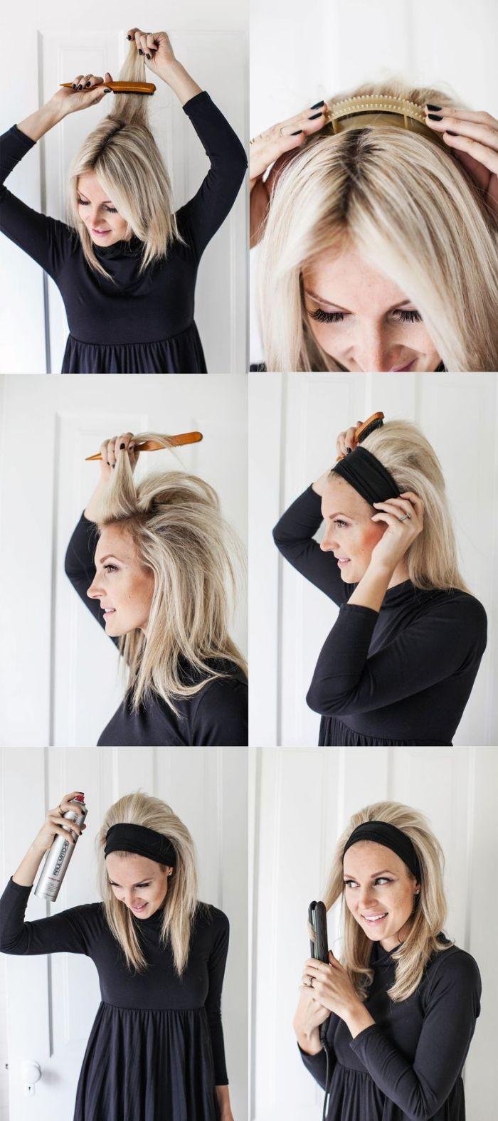 id e coiffure tapes suivre pour faire une coiffure facile sur cheveux longs et raids che. Black Bedroom Furniture Sets. Home Design Ideas