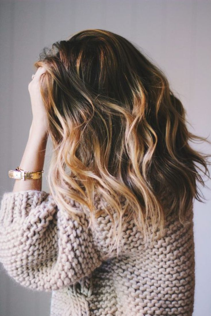 coiffure balayage blond sur cheveux chatain
