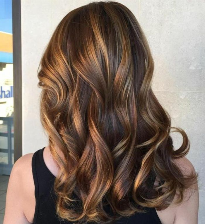 Balayage Caramel Sur Cheveux Chatain Fonce