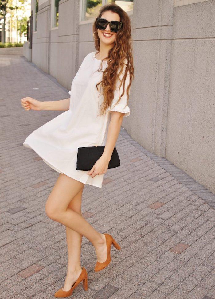 0fe52e7ad8d La robe courte blanche ete femme robe légère été cool tenue à choisir pour  l été