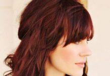 Couleur bordeau prune cheveux
