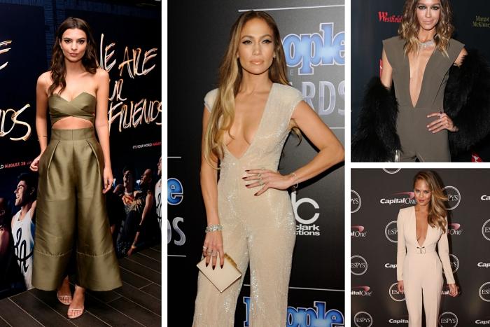 exemple comment porter une combinaison femme kaki, modèle de combi pantalon kaki à top bustier et pantalon large