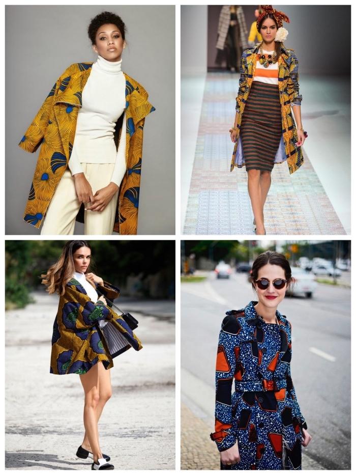 idées de looks stylés en veste tissu africain