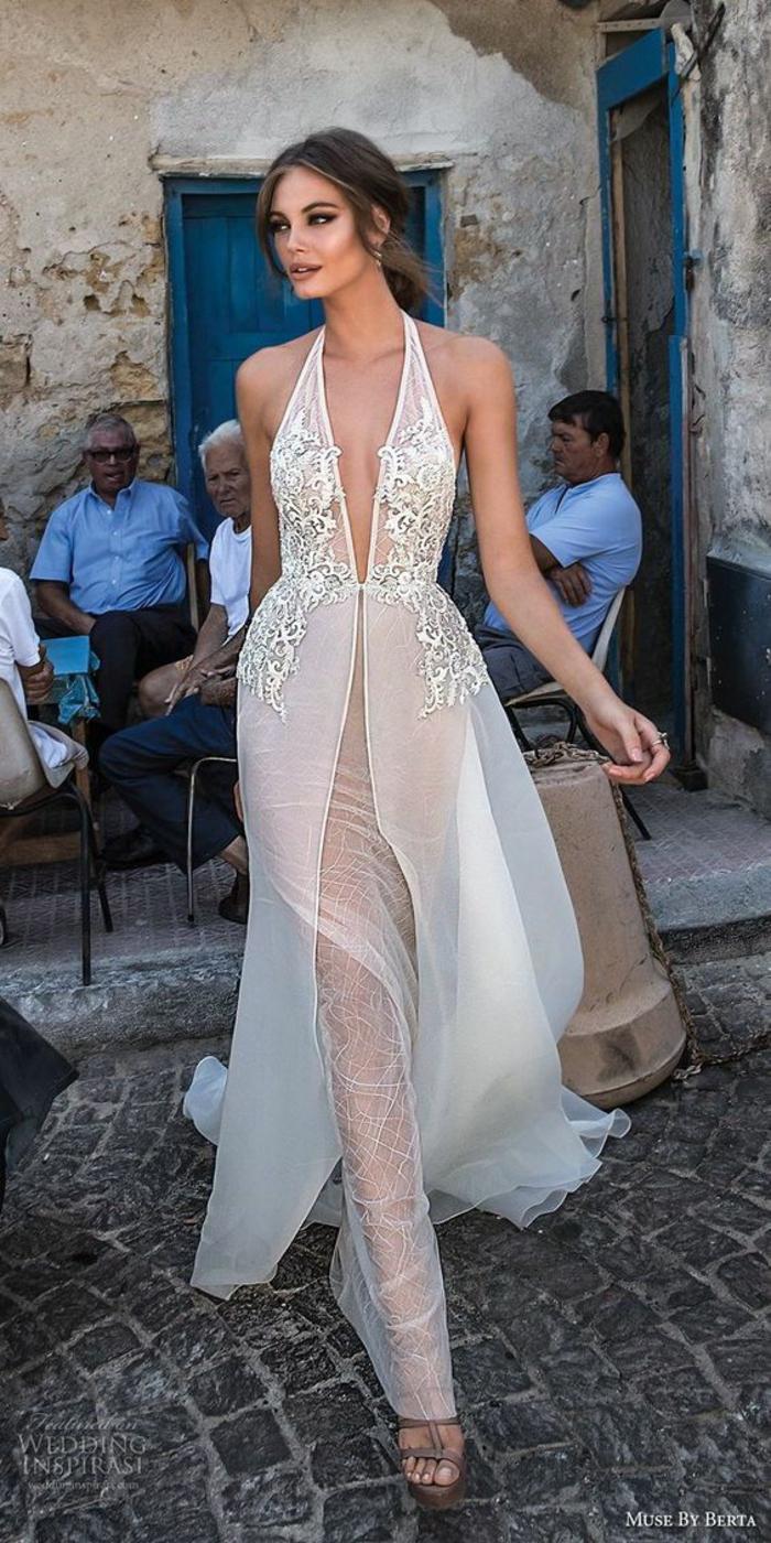 robe mariée bohème, robe dos nu dentelle, robe hippie chic en dentelle, robe longue hippie chic, robe boheme blanche