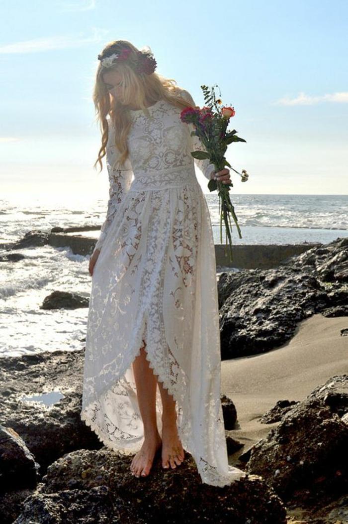 robe boheme longue, robe longue hippie chic, robe blanche boheme, robe champetre chic, vetement boheme romantique