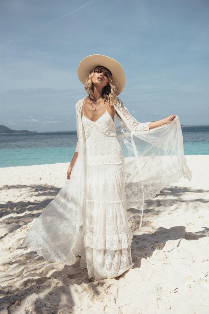robe longue boheme chic, robe mariée bohème, robe champetre chic, vetement boheme romantique