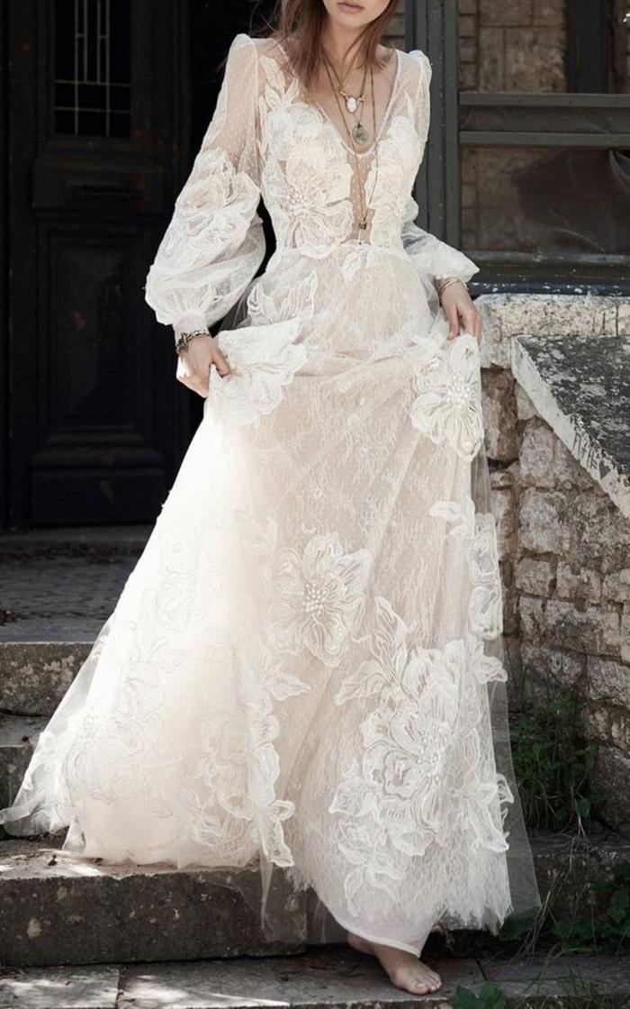 tenue boheme chic, robe mariée bohème, vetement hippie chic, look vintage années 20 du siècle passé
