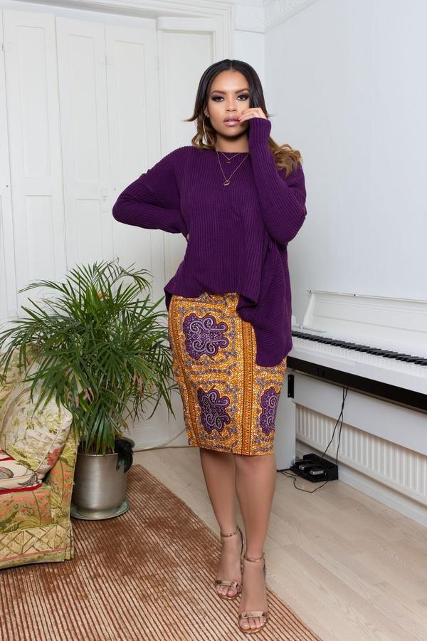 578261540bc311 Jupe Pagne : Jupe crayon à imprimé africain Lissa - Madame.tn ...