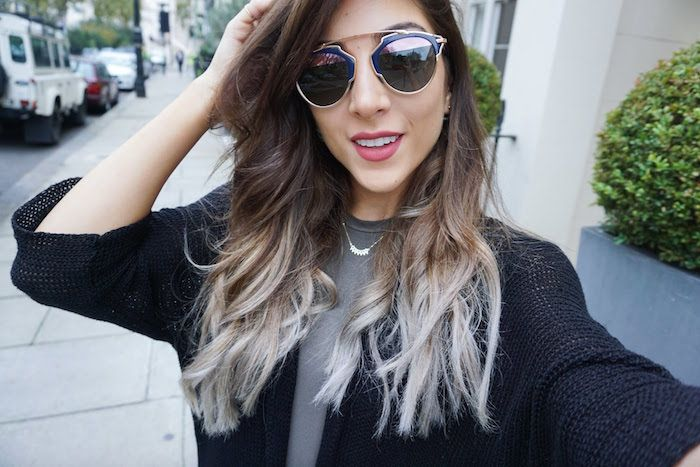 Idee Coiffure Tie And Dye Blond Des Cheveux Yin Et Yang