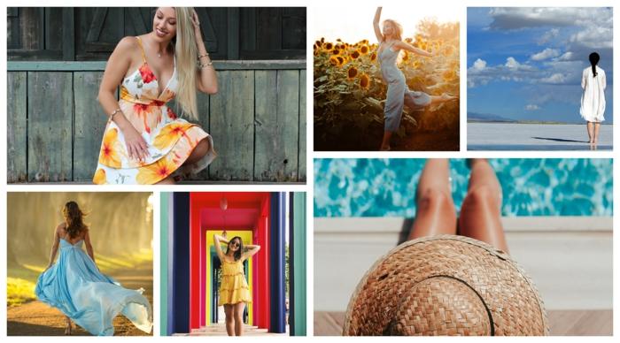 Colorée mode ete 2020, style casual, haut femme tendance, robe fleurie blanche et jaune femme, vetement femme tendance pour un été jovial