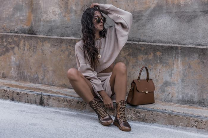 Chouette idée tenue décontracté chic femme, inspiration mode femme 2019, tendance ete 2019 moderne tenue feminine