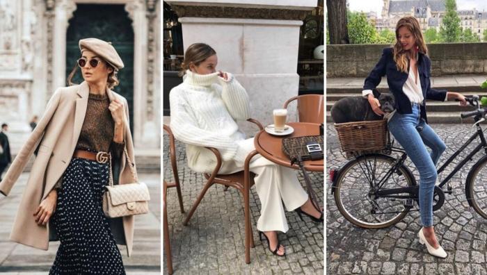 beau style look cuissarde tenue parisienne comme les femmes a paris femme en bicyclette jean et veste boire son café a paris