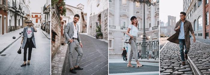 comment bien s habiller aujourd'hui tenue motif prince de galles vetements costume homme blazer femme gris clair jeans et veste