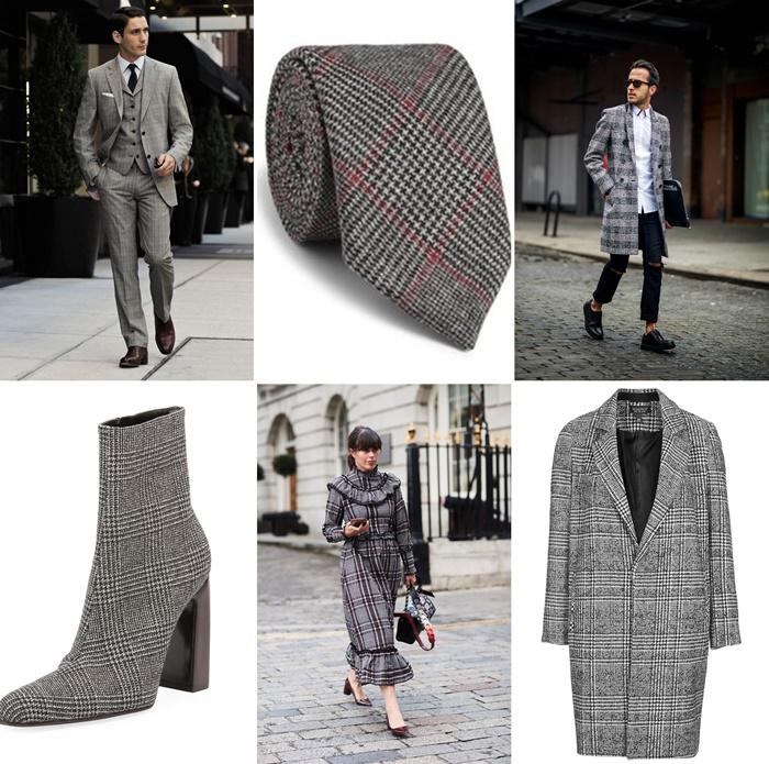 comment porter l imprime prince de galles tendance mode femme tenue homme elegant costume tailleur carreaux gris