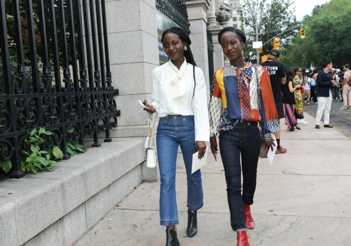 jean et top simple idée bien réalisée style parisienne tenue décontractée chic femme vetements