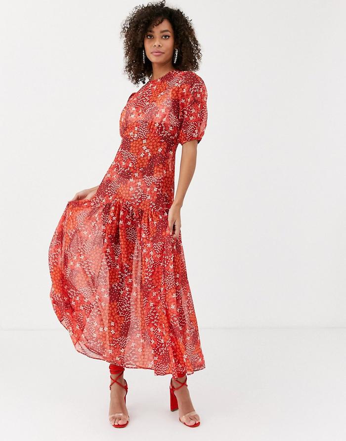robe multicolre tenue chic femme comment porter des manches bouffantes