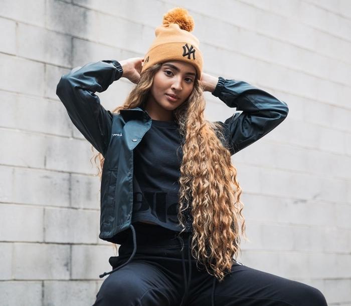 style américain femme hiver mode vêtements casual style de rue survêtement pantalon noir