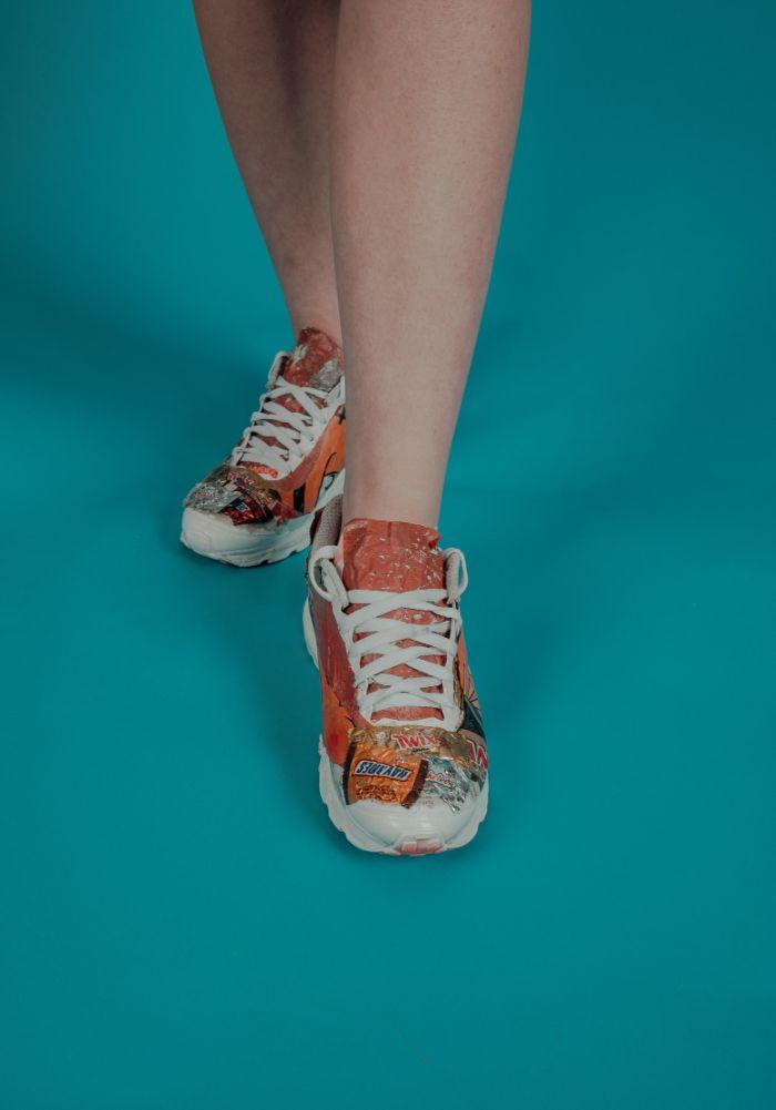 basket à la mode exemple chaussure ecologique de matériaux recyclées design original, basket femme tendance en 2021