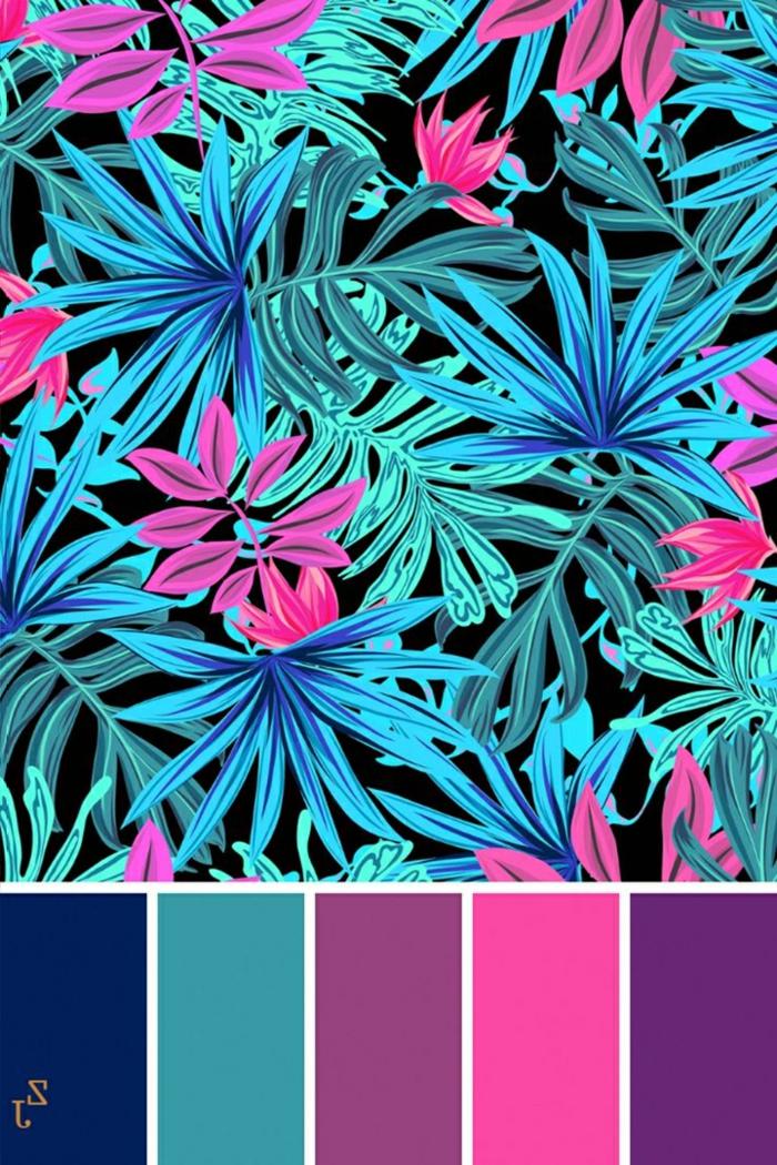 ongles fluo couleurs néon blue violet